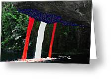 Backside Of Freedom II Greeting Card by Mickey Wright