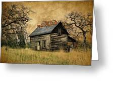 Backwoods Cabin Greeting Card by Steve McKinzie