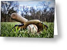 Backyard Baseball Memories Greeting Card by Cricket Hackmann