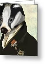 Badger The Hero Greeting Card by Kelly McLaughlan