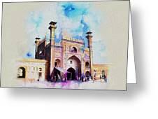 Badshahi Mosque Gate Greeting Card by Catf