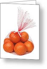 Bag Of Oranges Greeting Card by Ann Horn