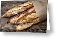 Baguettes Bread Greeting Card by Elena Elisseeva