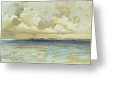 Bahama Island Light Greeting Card by Thomas Moran