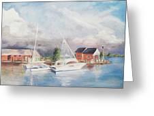 Bahamas Harbor Greeting Card by Barbara Anna Knauf