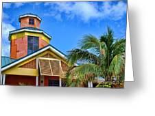 Bahamas Pastels Greeting Card by Alexandra Jordankova