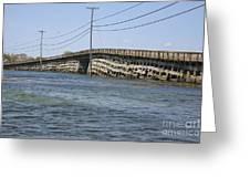Bailey Island Bridge - Harpswell Maine Greeting Card by Erin Paul Donovan