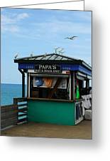 Bait And Snack Shop Greeting Card by Mel Steinhauer