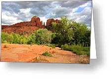 Balance At Cathedral Rock Greeting Card by Carol Groenen