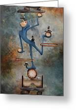Balance Greeting Card by Lorraine Ulen