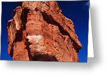 Balanced Rock at Garden of the Gods with Moon Greeting Card by John Hoffman