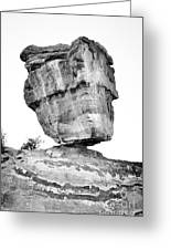 Balanced Rock In Black And White Greeting Card by Cheryl McClure