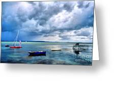 Balaton Lake Greeting Card by Odon Czintos