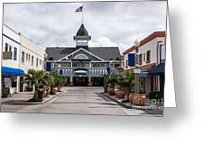 Balboa Downtown Main Street in Newport Beach Greeting Card by Paul Velgos