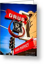 Balboa Pharmacy Drug Store Newport Beach Photo Greeting Card by Paul Velgos