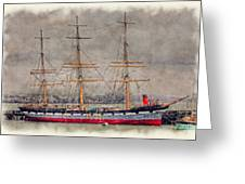 Balclutha Star Of Alaska San Francisco Greeting Card by Robert Jensen