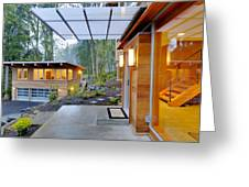 Balcony And Awning Of Modern House Greeting Card by Will Austin