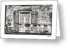 Balcony View in Black and White Greeting Card by Brenda Bryant