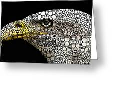 Bald Eagle Art - Eagle Eye - Stone Rock'd Art Greeting Card by Sharon Cummings