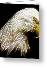 Bald Eagle Fractal Greeting Card by Adam Romanowicz
