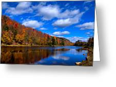 Bald Mountain Pond in Autumn Greeting Card by David Patterson