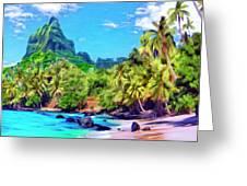 Bali Hai Greeting Card by Dominic Piperata
