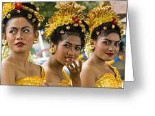 Balinese Dancers Greeting Card by David Smith