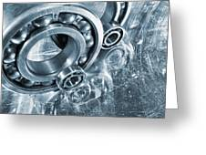 Ball Bearings And Engineering Greeting Card by Christian Lagereek