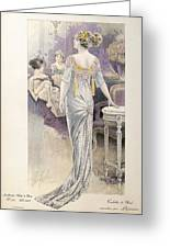Ball Gown Greeting Card by French School