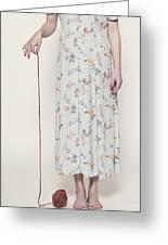 Ball Of Wool Greeting Card by Joana Kruse
