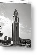 Ball State University Shafer Tower Greeting Card by University Icons