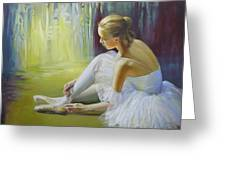 Ballerina Greeting Card by Elena Oleniuc