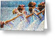 Ballerinas Greeting Card by M and L Creations