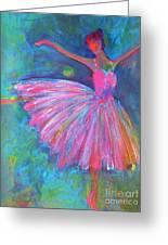 Ballet Bliss Greeting Card by Deb Magelssen