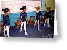 Ballet Class Greeting Card by Sarah Loft