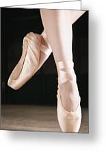 Ballet Dancer En Pointe Greeting Card by Don Hammond