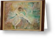 Ballet dancers Greeting Card by Ri Mo
