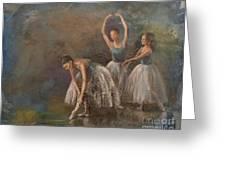 Ballet Dancers Greeting Card by Susan Bradbury