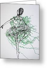 Ballet Greeting Card by Gloria Ssali