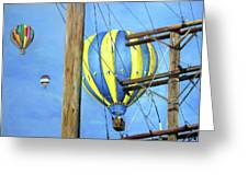 Balloon Race Greeting Card by Donna Tucker