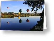 Balloons Heading East Greeting Card by Carol Groenen
