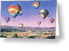Balloons Over San Dieguito Greeting Card by Mary Helmreich