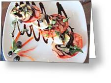 Balsamic Salad Greeting Card by Donna Wilson