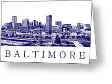 Baltimore Blueprint Greeting Card by Olivier Le Queinec
