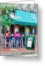 Baltimore - Happy Hour In Fells Point Greeting Card by Susan Savad