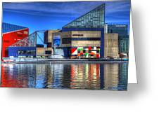 Baltimore Harbor Greeting Card by David Simons