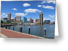 Baltimore Inner Harbor Greeting Card by Olivier Le Queinec