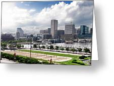 Baltimore Maryland Greeting Card by Olivier Le Queinec