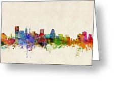 Baltimore Maryland Skyline Greeting Card by Michael Tompsett