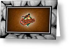 Baltimore Orioles Greeting Card by Joe Hamilton